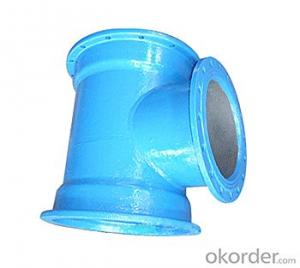 Ductile Iron Pipe Fittings All Flanged Tee DN1800 EN598 Cold Applied Bitumen