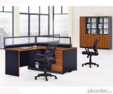 Mobiliario de puesto de trabajo de oficina para personal de cuatro asientos