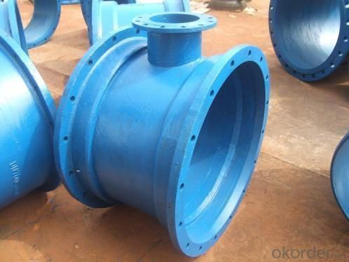 Ductile Iron Pipe Fittings Double Flanged Bend EN598 DN80-DN1400 for Waste Water