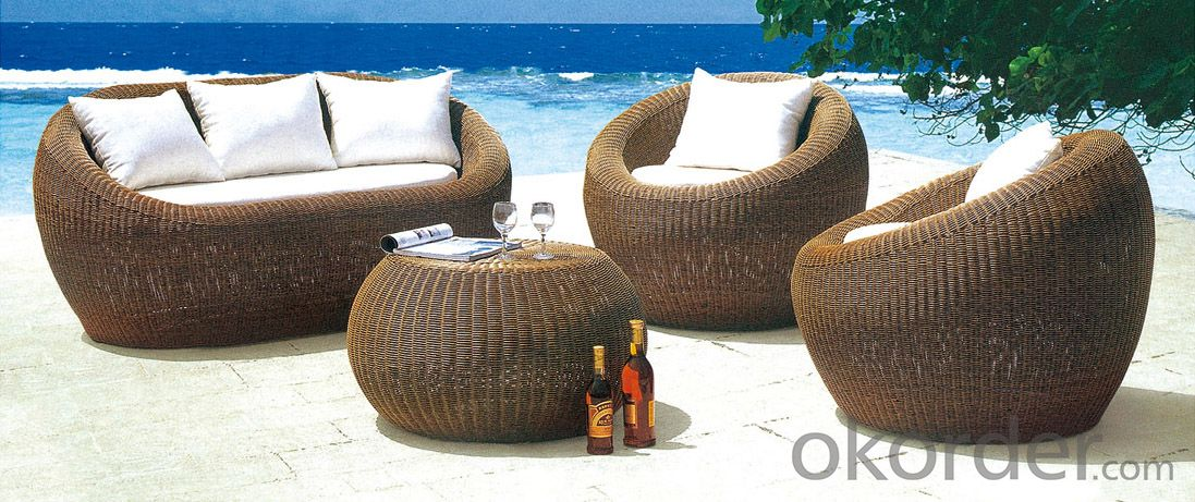 Stylish Outdoor PE Rattan Wicker Patio Sofa Furniture Set