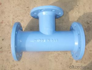 Ductile Iron Pipe Fittings All Flange Tee EN124/d400 DN1200 Grey Iron GG20