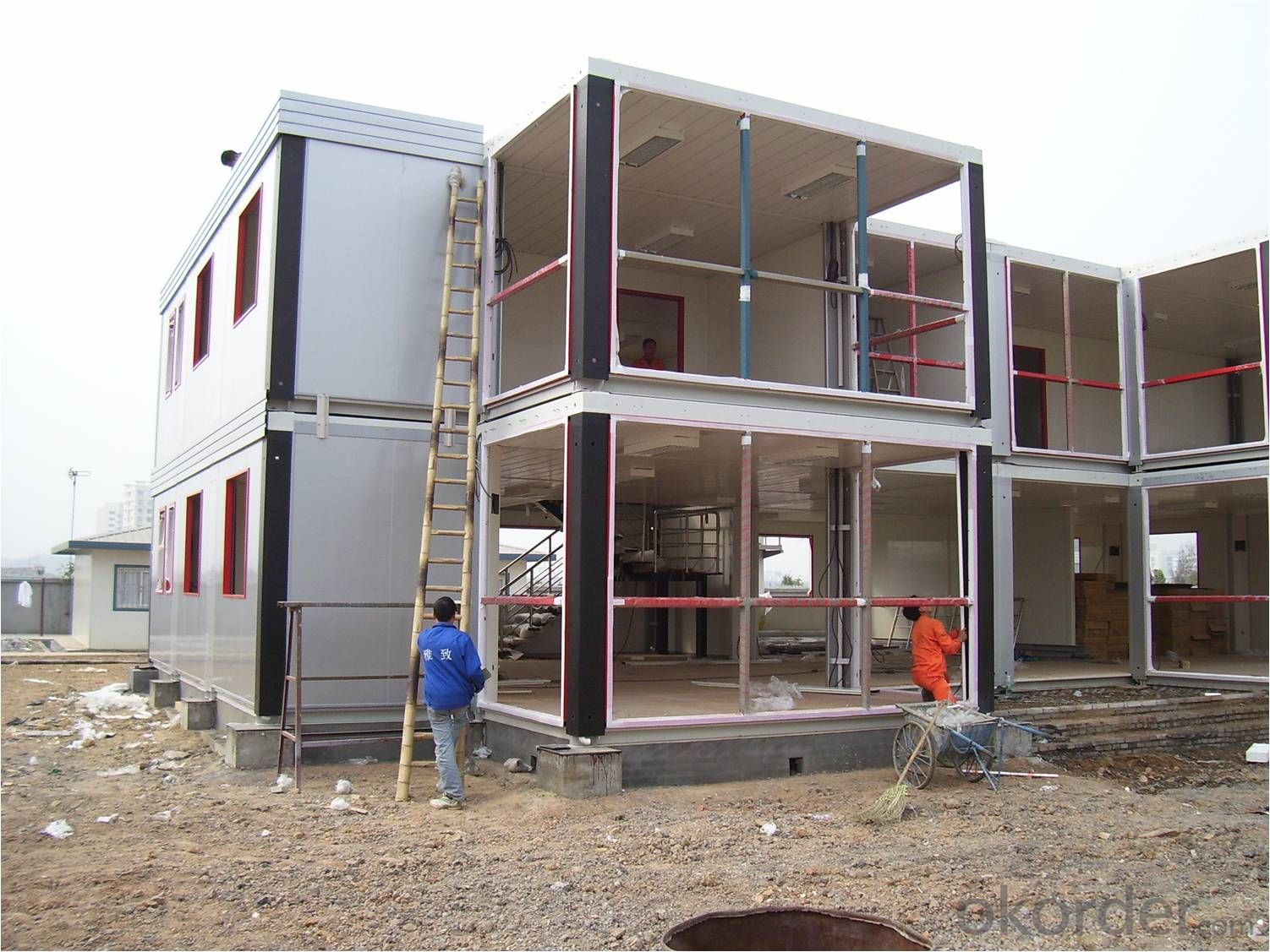 Container House with Two Floors Made in China