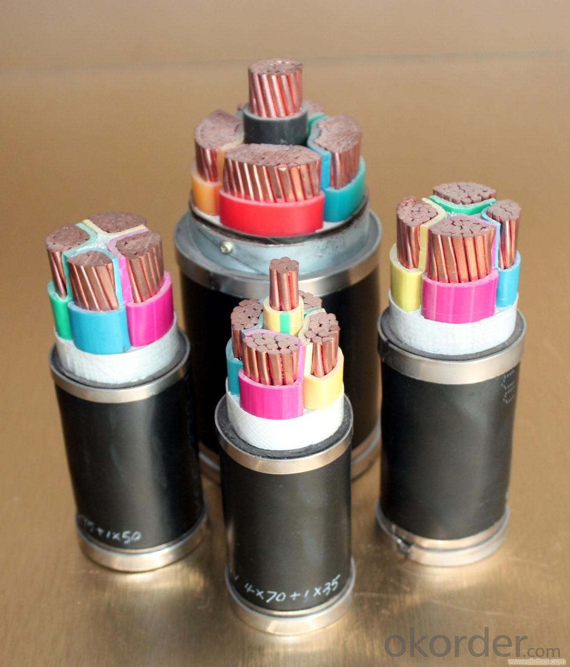 Concentric cables, 1/0 AWG 6AWG 8AWG 12AWG cable