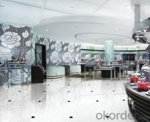 Polished Porcelain Tile Double Loading Crystal Jade White 23001