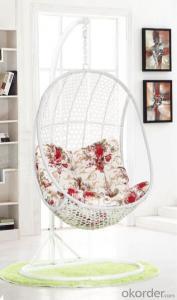 Patio Swing Chair Garden with Green Cushion