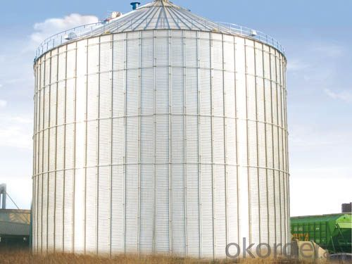 Hot Dip Galvanized Flour Feed Mill Silo Prices