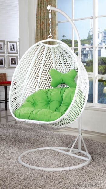 Patio Swing Chair Garden with Green Cushion