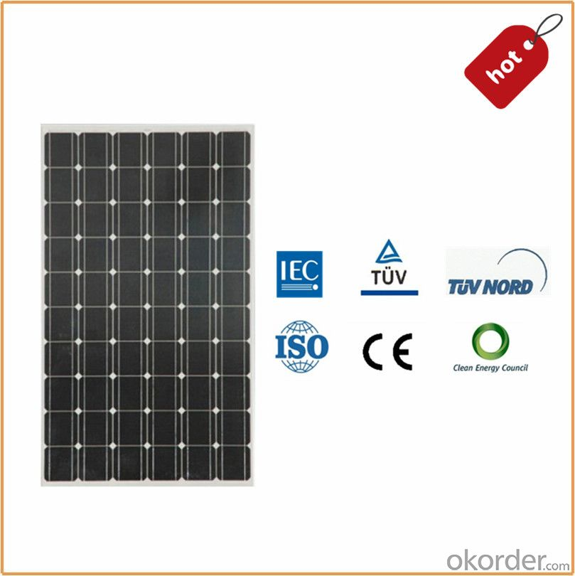 Monocrystallin Solar panel 35W with Certification