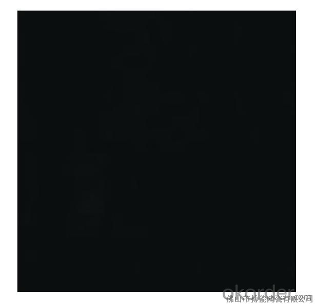 Polished Porcelain Tile The Super Black Color CMAX 0340