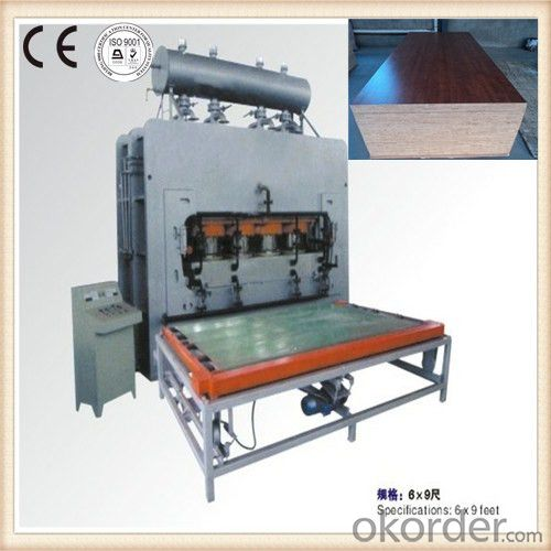Two Sides Laminating Funiture Board Hot Press