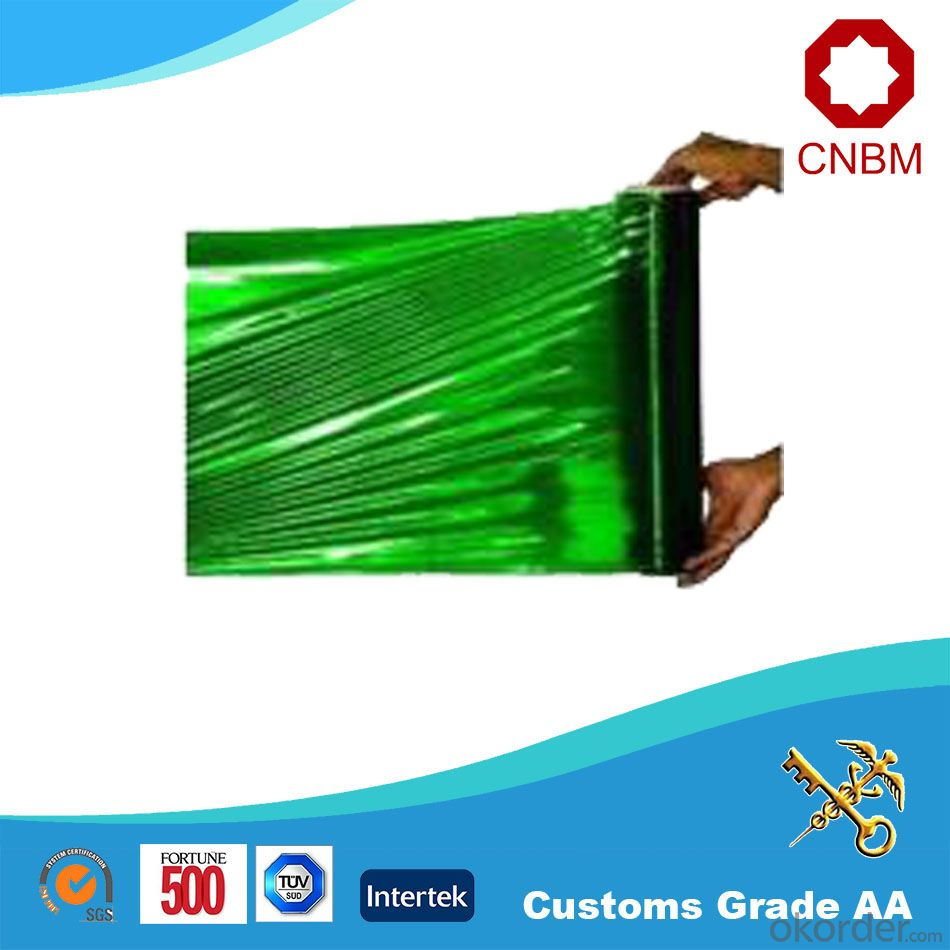 Green PE Stretch Film 50micron Self Adhesive