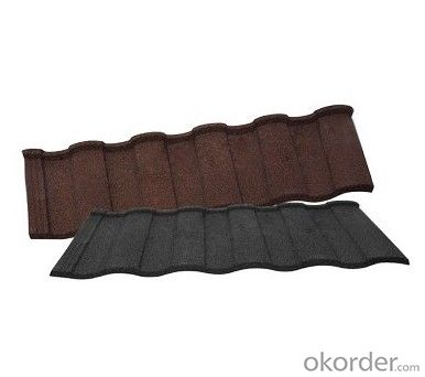 Stone Chip Coated Metal Corrugated Roof Tile