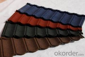 Light Weight Colorful Stone Coated Metal Roof Tile