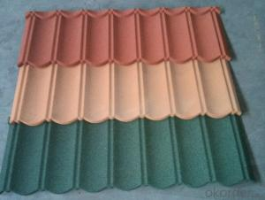 Angle Colorful Stone Coated Metal Roofing Tile