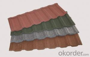 Recyclable Colorful Stone Coated Metal Roof Tile