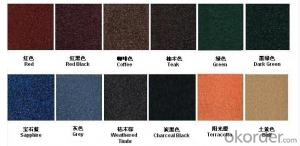 Stone Coated Metal Roofing Tiles with Different Color