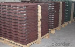 Natural Stone Chip Coated Metal Roofing Tile