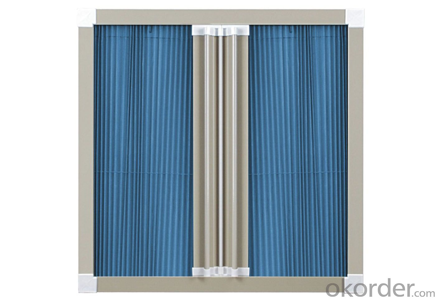 Top Quality Gray Color Fiberglass Plisse Insect Screen.  Folding Insect Mesh PVC All Materials