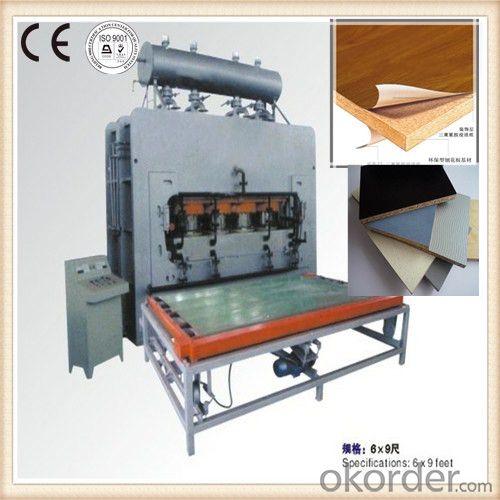 Wood Surface Decorative Veneer Laminating Hot Press Machine