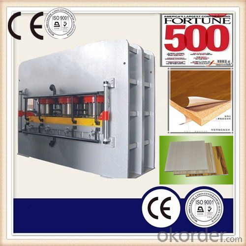 Particle Board Melamine Lamination Hot Press Machine