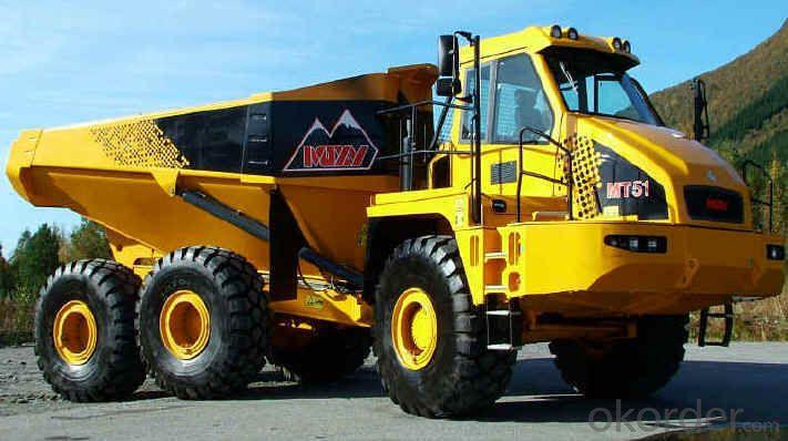 Dump Truck Heavy Duty 3 Axles Semi Trailer Side