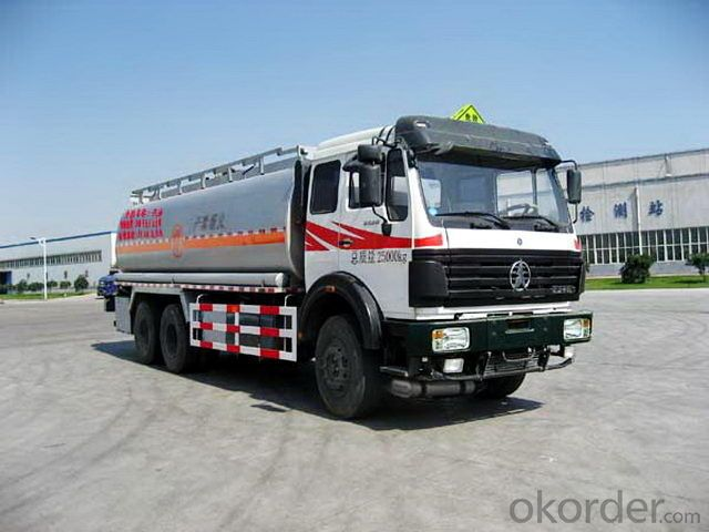 Fuel Tank Trucks / Oil Tank Trucks 40cbm Shanqi D'long 8*4