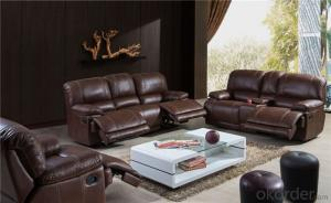 Natural Leather Recliner Sofa for Living Room