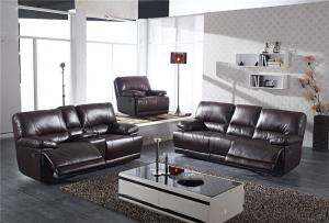 Natural Leather Recliner Sofa of Modern Style