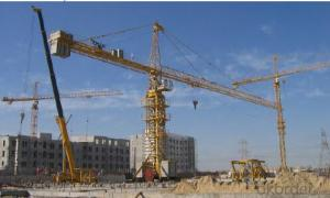 Model D2500-120 Tower Crane with Good Vision and Large Inner Space Cab