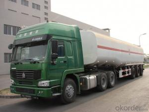 Fuel Tank Truck  Axles Aluminum Alloy Conainer