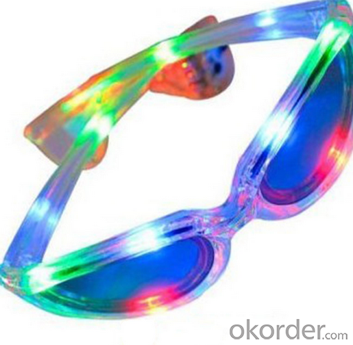 Plastic Party Flashing Glasses Led Glasses Light Up Glasses Round Circle 17387