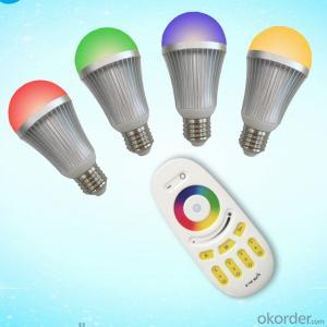 LED Bulb LED 2.4G Remote Bulb 2.4G Grouping RGBW Bulb (9W Aluminum Alloy)
