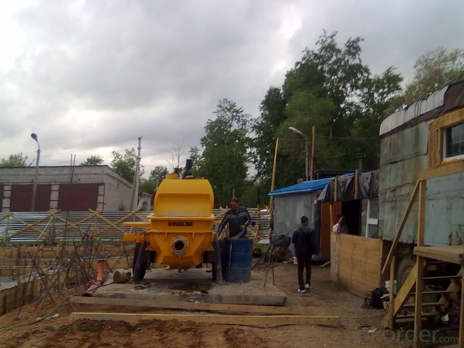 Concrete Pump Trailer Pump Electric Motor HBTS50