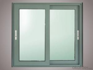 PVC Casement Window with CE ISO for double ,trial glass