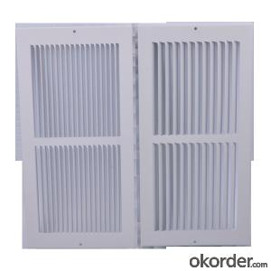 Metal Coated Air Grilles with Steel Frame Floor diffusers