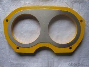 Spectacle Wear Plate 6''  for Jacon Concrete Pump