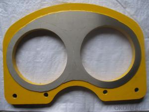 Concrete Pump Tungsten Carbide PM Wear Plate DN180