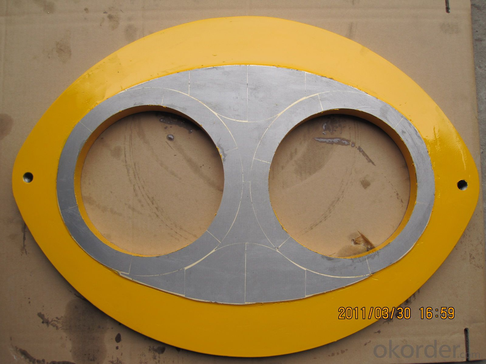 Spectacle Wear Plate 6''  for Jacon Concrete Pump