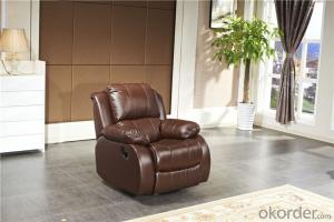 Manually Recliner Sofa with Genuine Leather