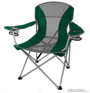 Luxury Two Color Matched Camping Chair Green/Gray