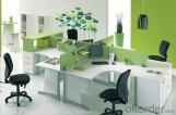 Conjunto de Mobiliario de Oficina de Terminal de Trabajo con forma de L en Verde