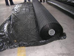 Fiberglass Geogrid with Bitumen Reinforcement