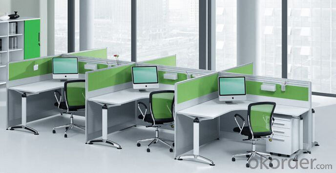 L-Desk Workstation Set Office Furniture Green