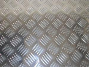 Embossed Aluminum Sheet Five Bars Aluminum Sheet 0.1~5Mm 3 Bar