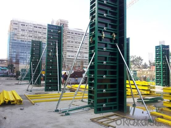 Steel Frame Formwork GK120 Used for The Concrete Pouring of Square or Rectangle Column