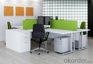 Office Workstation Modern Wooden Green Partition