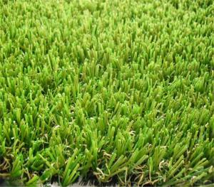 Curly Yarn Green Turf Landscaping Artificial Grass For Villa , Home Garden