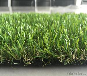 PP Curly Yarn Landscaping Artificial Residential Turf Lawn For Garden