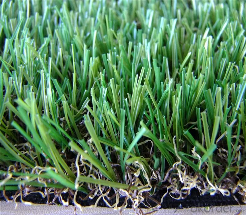 Landscaping Artificial Grass Synthetic Lawn For Sports , PP + net cloth