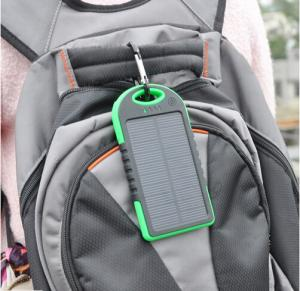 5000mAh Waterproof Solar Power Bank for Mobile Phone